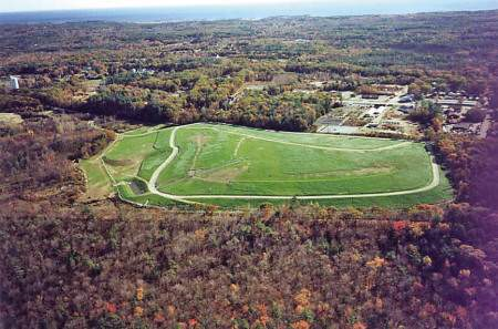 Aerial view of Coakley Landfill