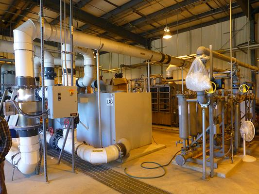 Groundwater extraction and treatment system.