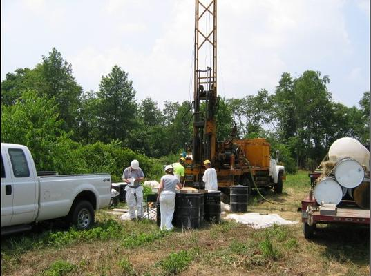 Monitoring Well-N Rock Core Rig - June 30, 2005
