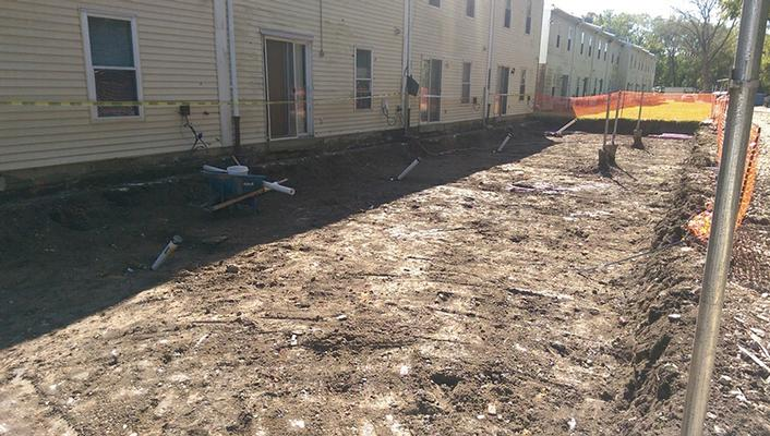 Completed 2 foot deep excavations of backyards for yard cleanups