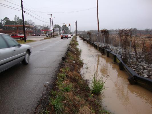 14th Avenue Ditch before remediation and construction