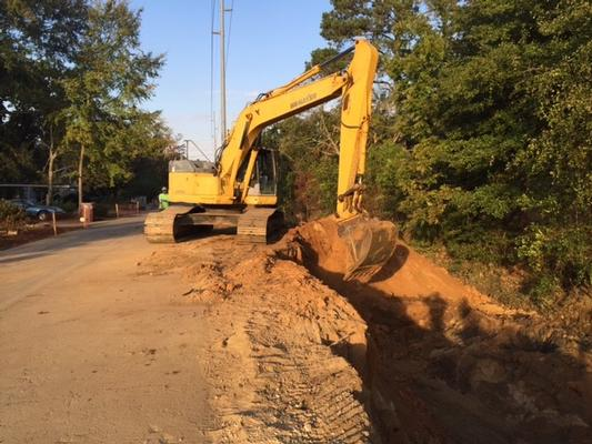 7th Avenue Ditch excavation work