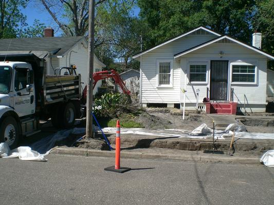Excavating properties on W. 15th Street
