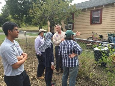 EPA OSCs  explain the residential soils removal process to the Indonesian delegation