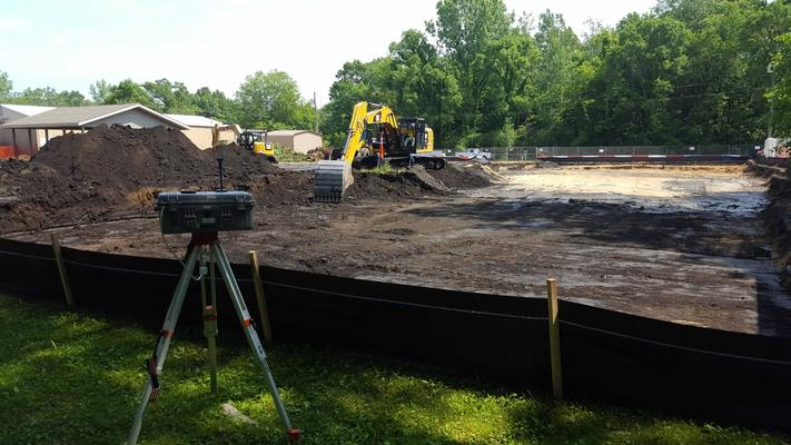 Ongoing soil excavation.