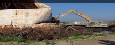 Demolition of Onsite Waste Oil Storage Tanks – tanks are decontaminated and recycled