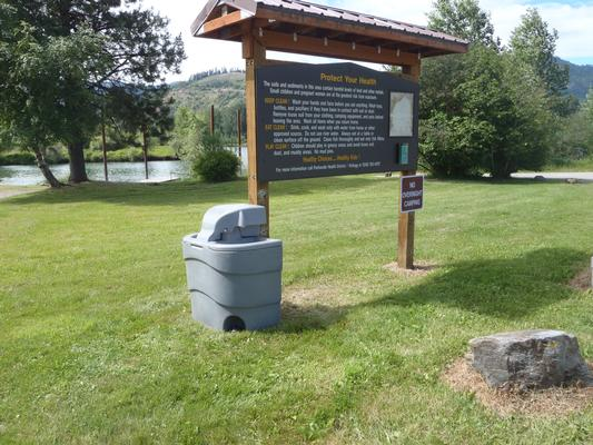 We're setting up temporary hand washing stations at select local boat launches. These recreation areas do not have running water.