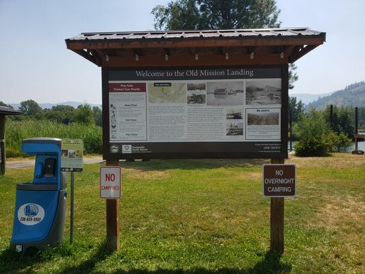 New signs at popular recreation areas help people play clean. Some signs include local history.