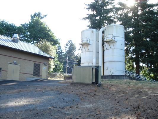 Vancouver Water Station #4, air stripping towers. Photo credit: City of Vancouver Washington