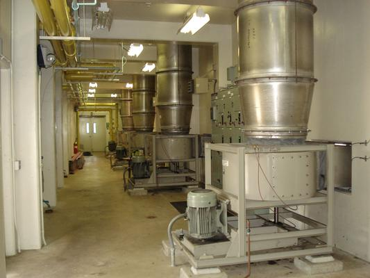 Vancouver Water Station #1, interior of the treatment building. Photo credit: City of Vancouver Washington