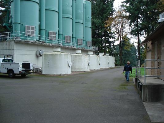 Vancouver Water Station #1, aeration treatment system. Photo credit: City of Vancouver Washington